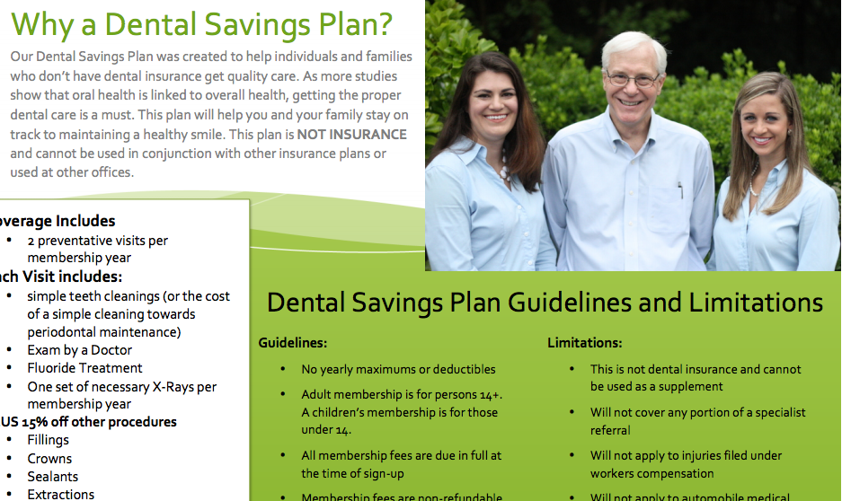 Marketing a Dental Savings Plan