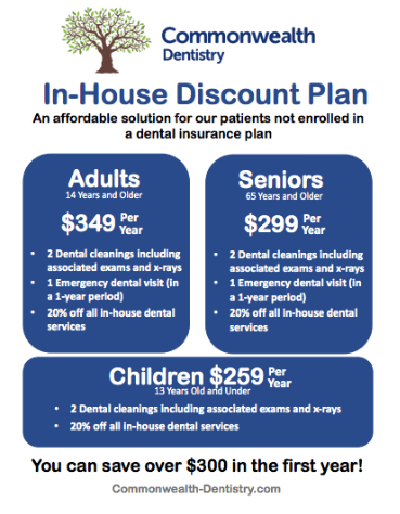 Dental savings plan advertising