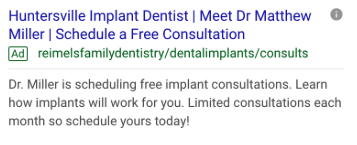 Dental Implant Advertising