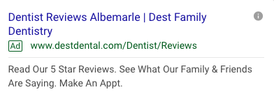 Dental Search Ads